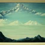"""картина холст масло """"Гора пяти сокровищ"""" - художник Евгений Клюев Новосибирск"""