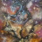 """картина холст масло """"Туманность Драконы"""" - художник Евгений Клюев Новосибирск"""