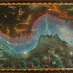 """картина холст масло """"Любовь Вселенной"""" - художник Евгений Клюев Новосибирск"""
