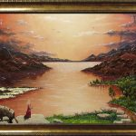 """картина холст масло """"Мидгард II"""" - художник Евгений Клюев Новосибирск"""