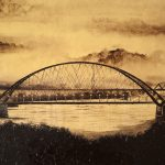 "картина холст масло ""Бугринский мост II"" - художник Евгений Клюев Новосибирск"